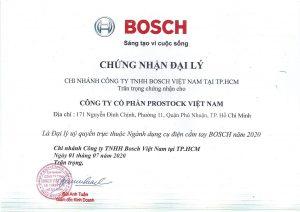 Chứng nhận đại lý uỷ quyền phân phối của Bosch